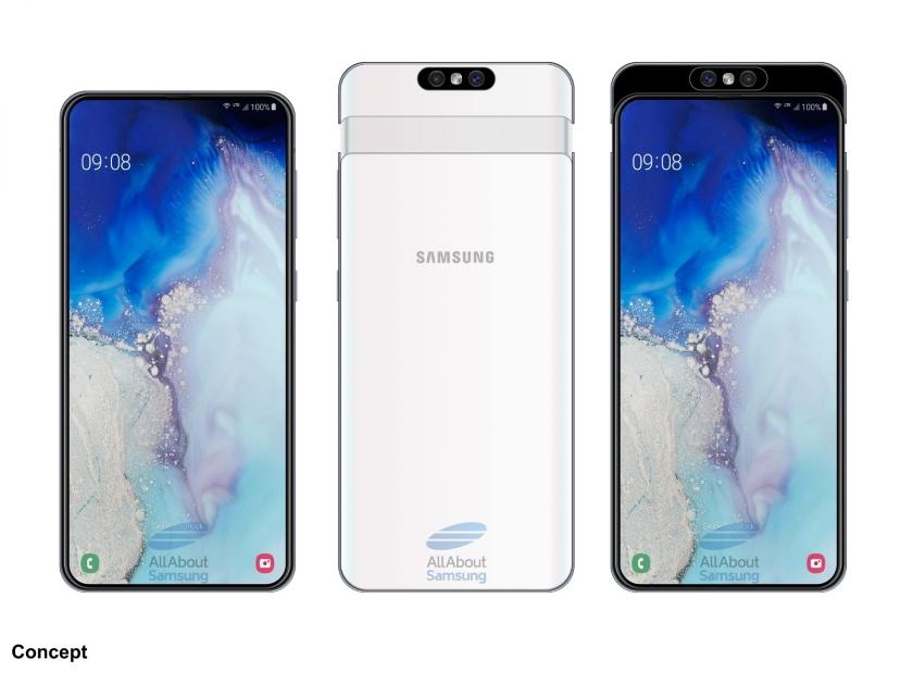 Samsung с выдвижной камерой