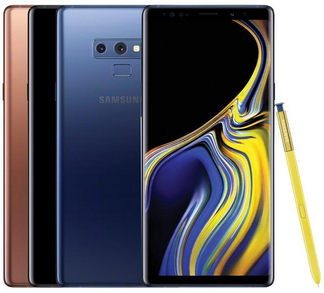 Samsung Galaxy Note 9 в трёх цветах на качественных пресс-рендерах