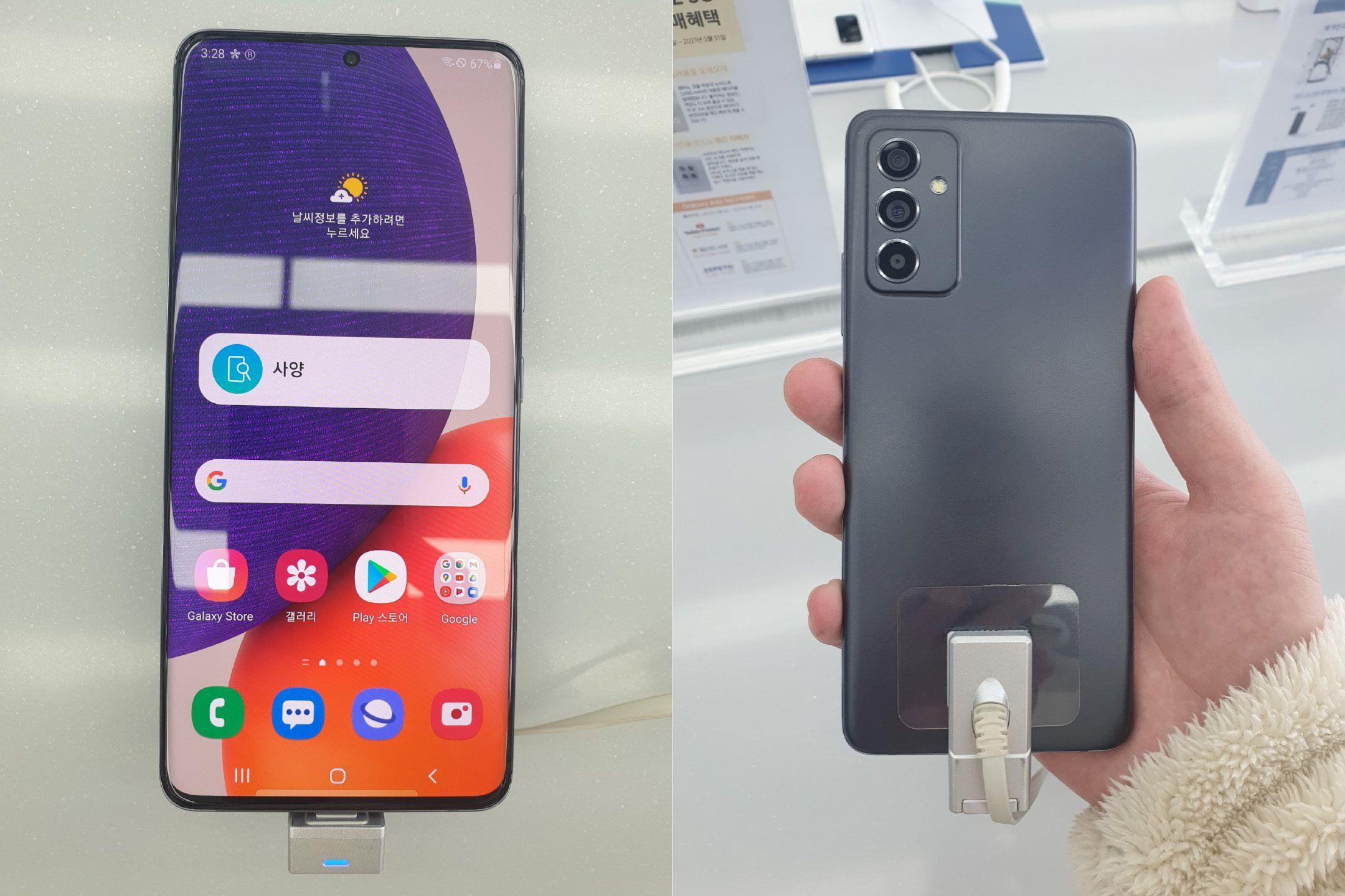 Samsung Galaxy A82 5G появился на фотографиях: дырявый экран с тонкими рамками и внешние вид, как у Galaxy A52 и Galaxy A72