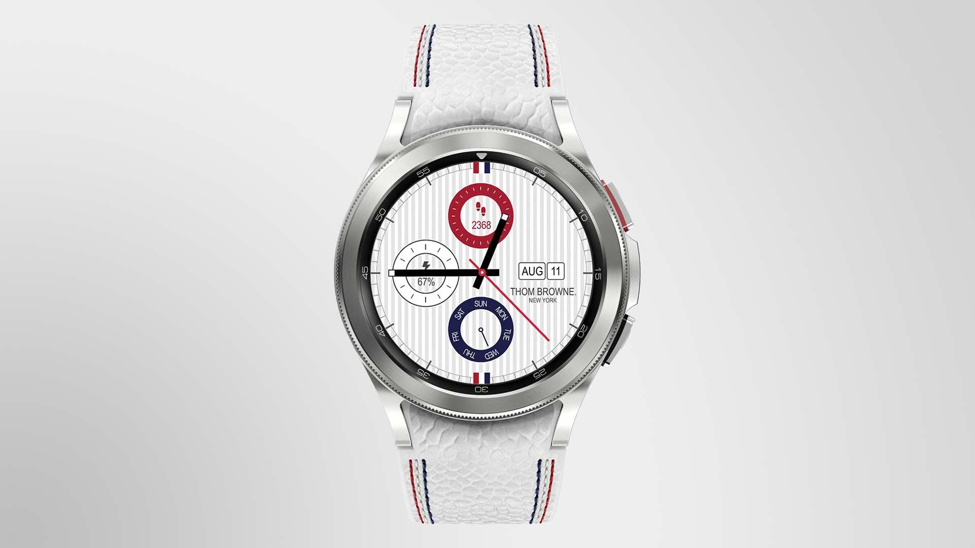 Samsung Galaxy Watch 4 Classic Thom Browne Edition: специальная версия смарт-часов за $800, созданная в сотрудничестве с американским модельером