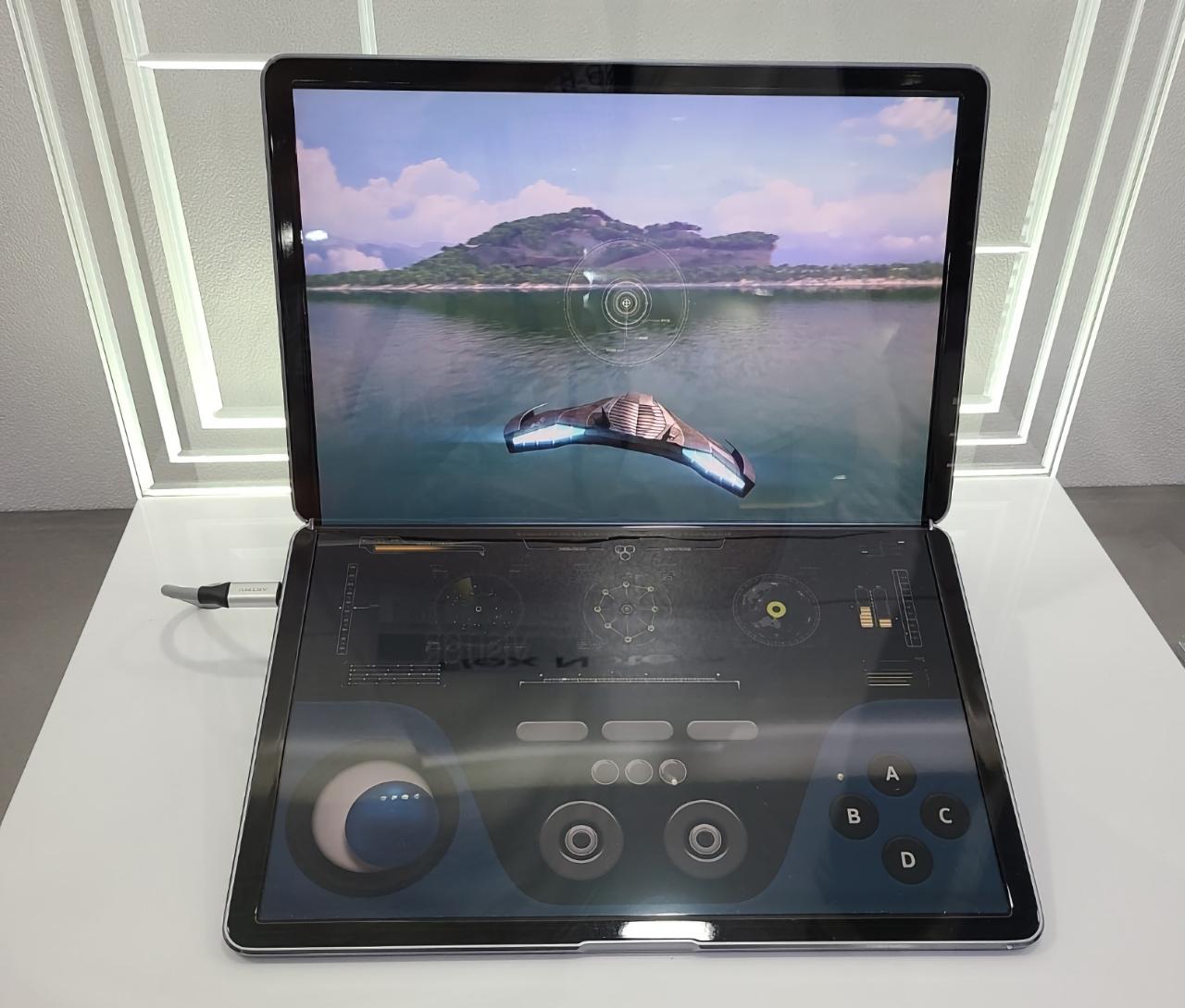 Samsung показала Galaxy Book Fold 17: ноутбук с гибким OLED-экраном и подэкранной камерой, как у Galaxy Z Fold 3