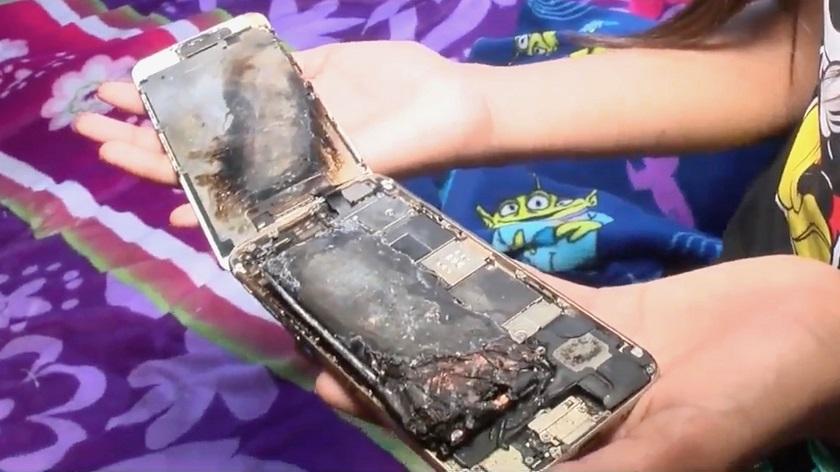iPhone 6 загорелся в руках 11-летней девочки