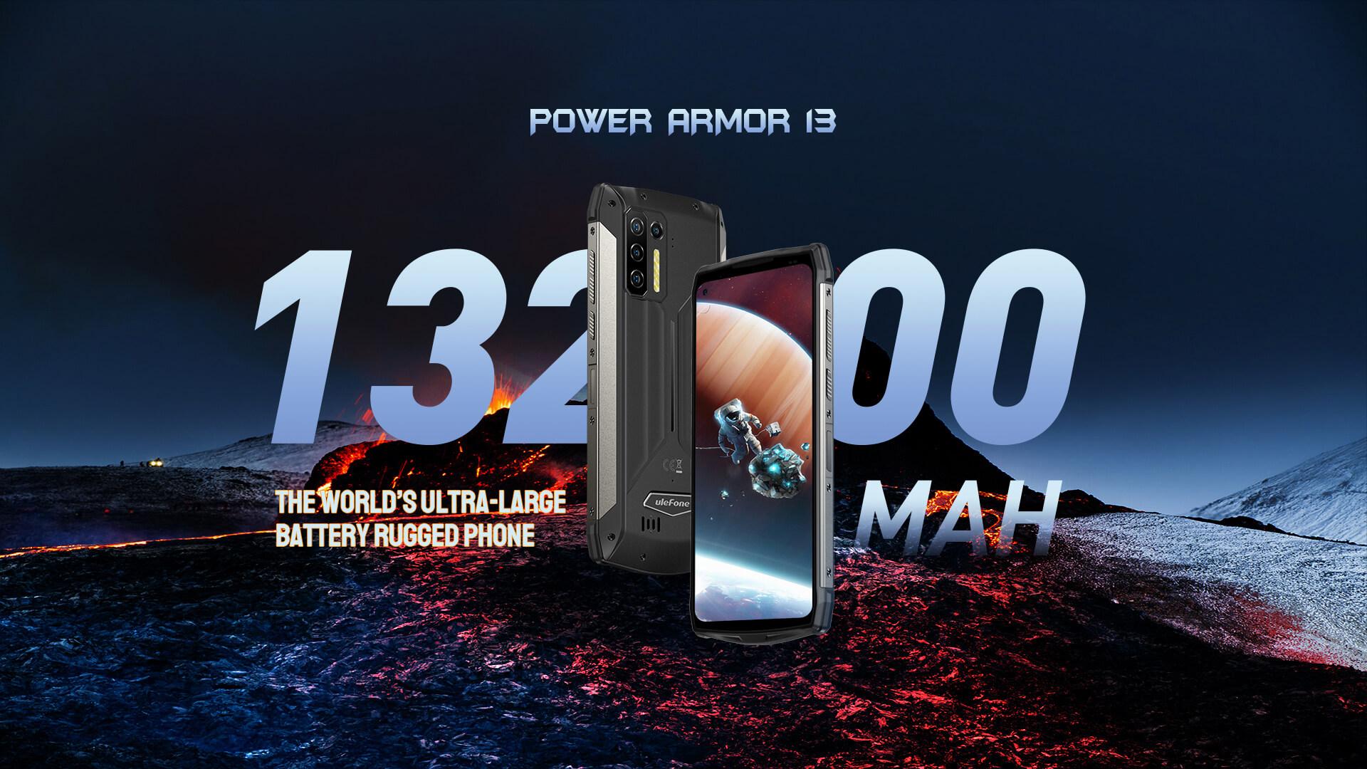Ulefone Power Armor 13: ударопрочный смартфон с аккумулятором на 13200 мАч
