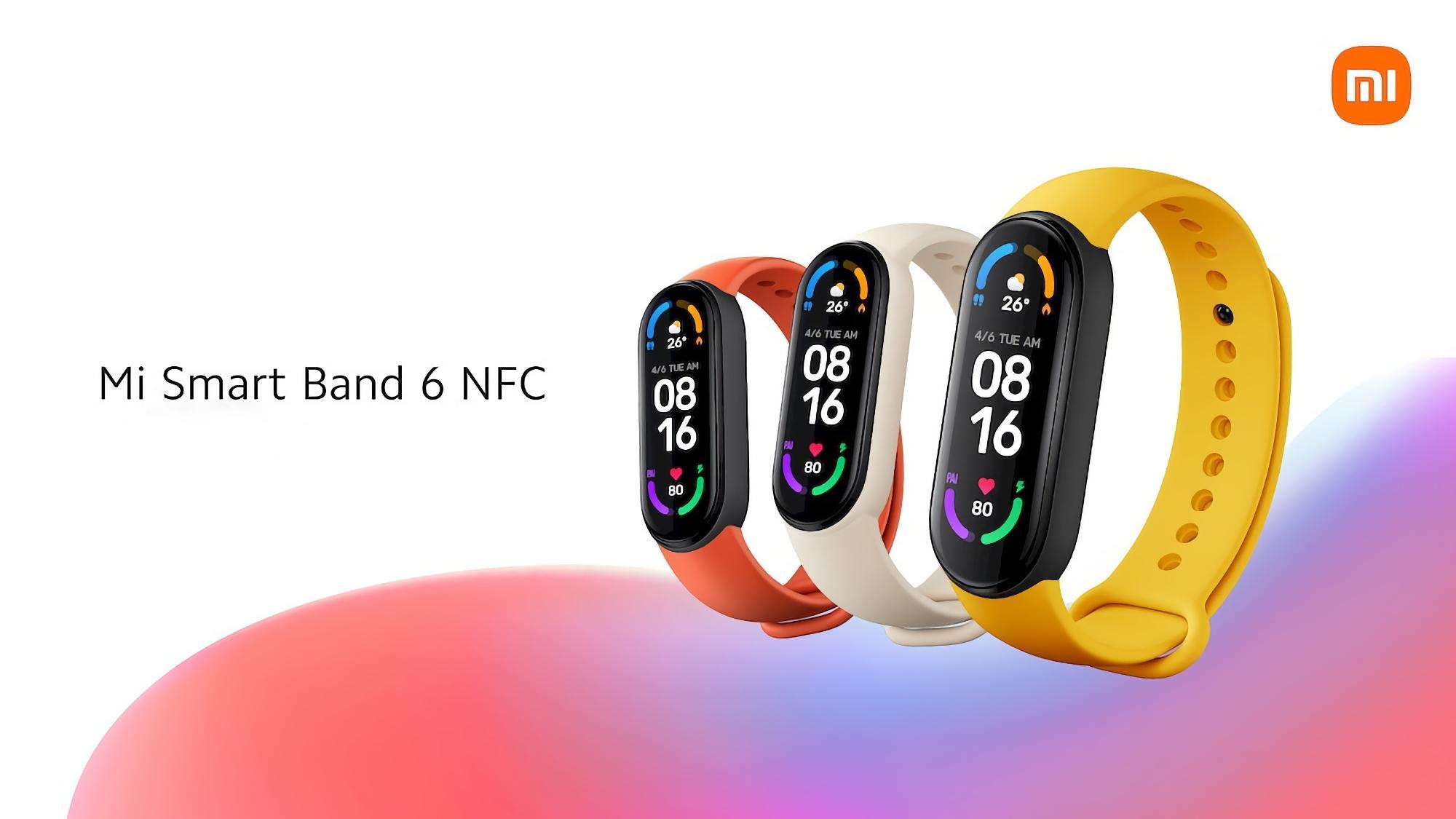 Xiaomi Mi Band 6 NFC начнут продавать в Украине 7 октября, его можно будет купить со скидкой