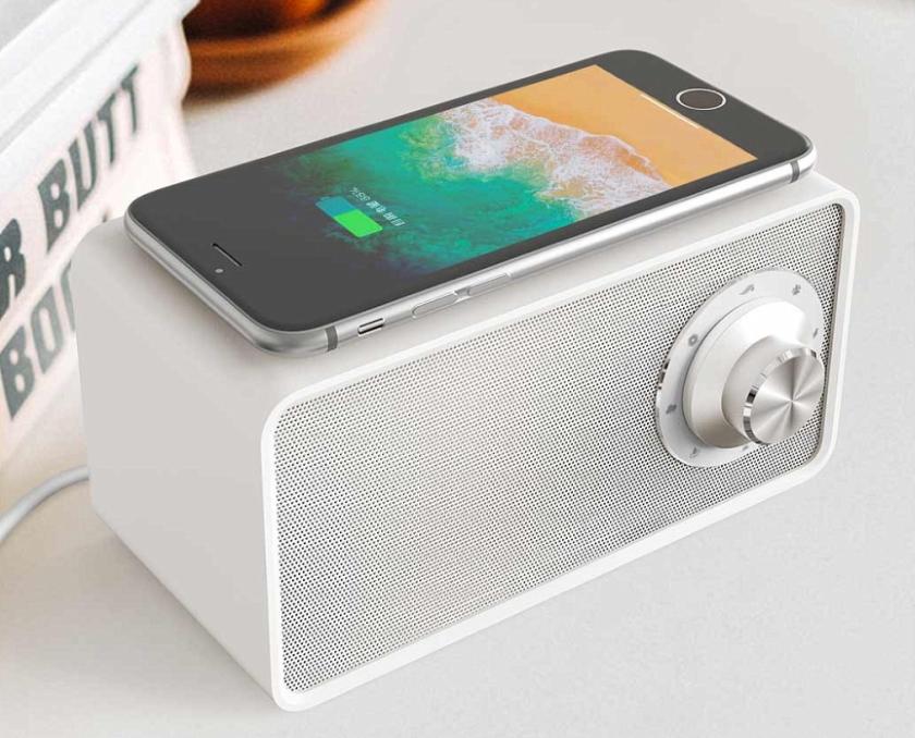 Xiaomi MiJia Qualitell: Bluetooth-колонка с беспроводной зарядкой