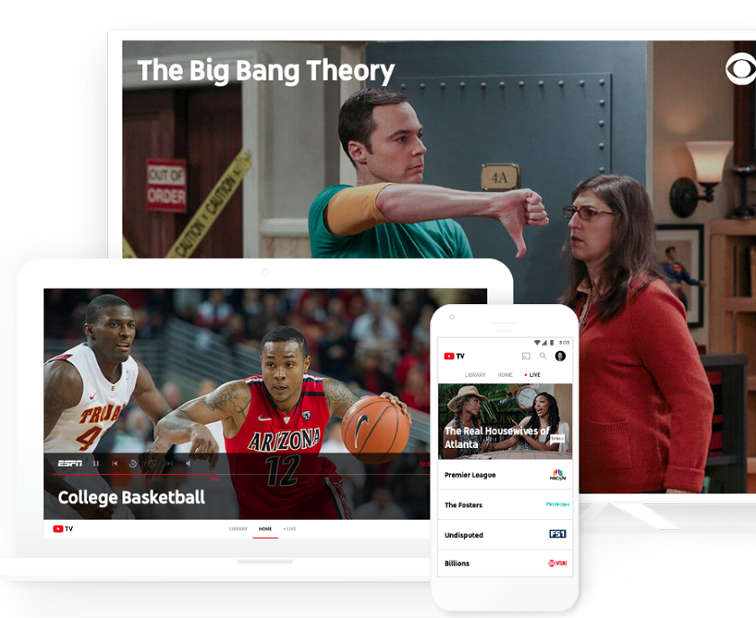 Google launches an online service YouTube TV