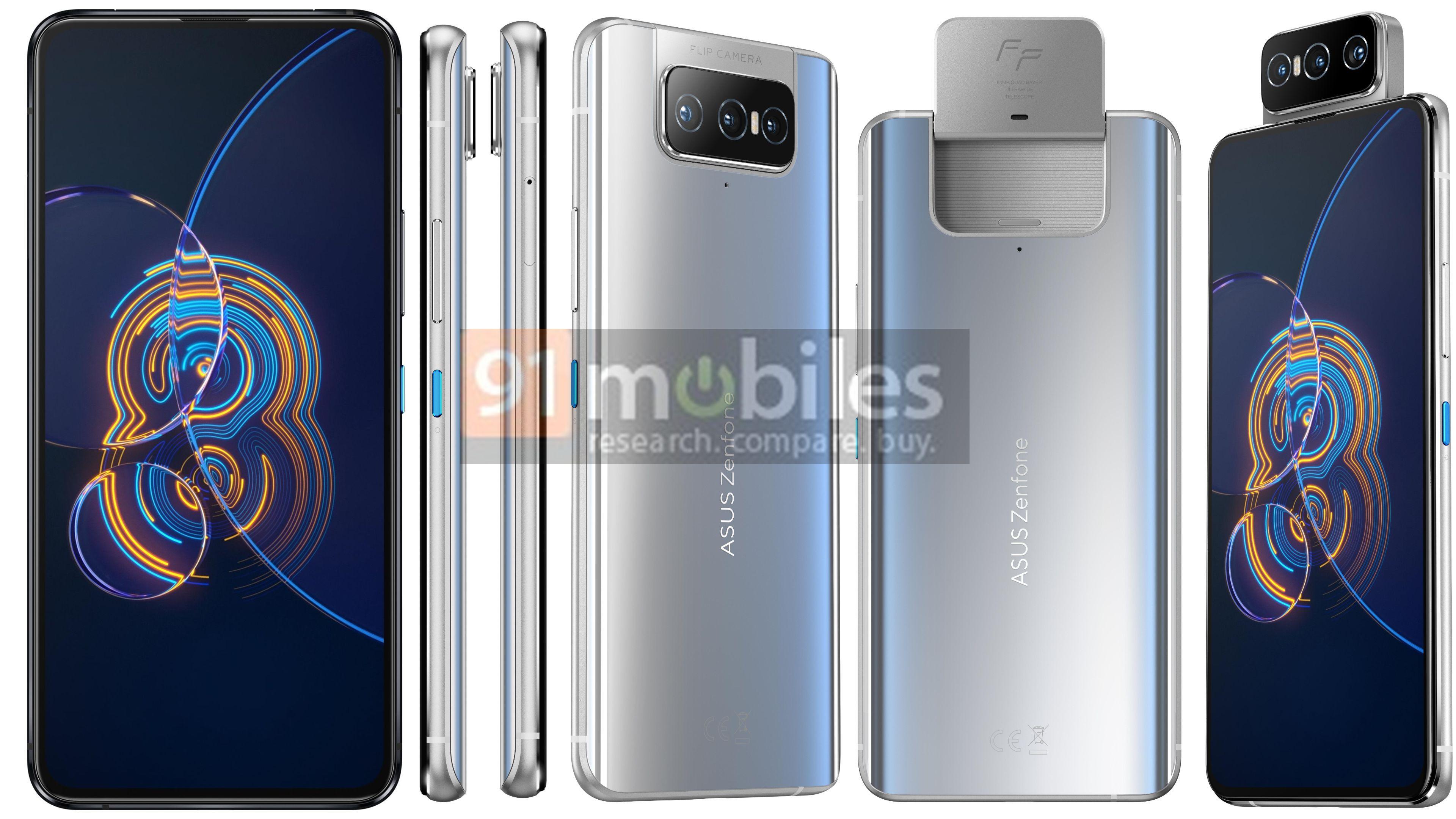 В сеть утекли изображения и основные характеристики ASUS ZenFone 8 Flip и ASUS ZenFone 8
