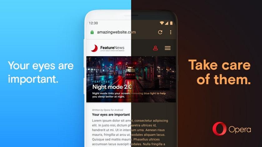 В последней версии Opera обновили ночной режим: теперь он работает на всех страницах