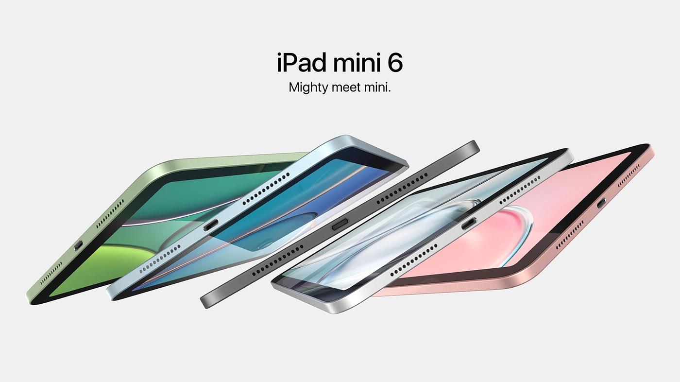 iPad mini 6 появился на новых рендерах: дизайн в стиле iPad Pro, экран на 8.4 дюйма, тонкие рамки и поддержка стилуса