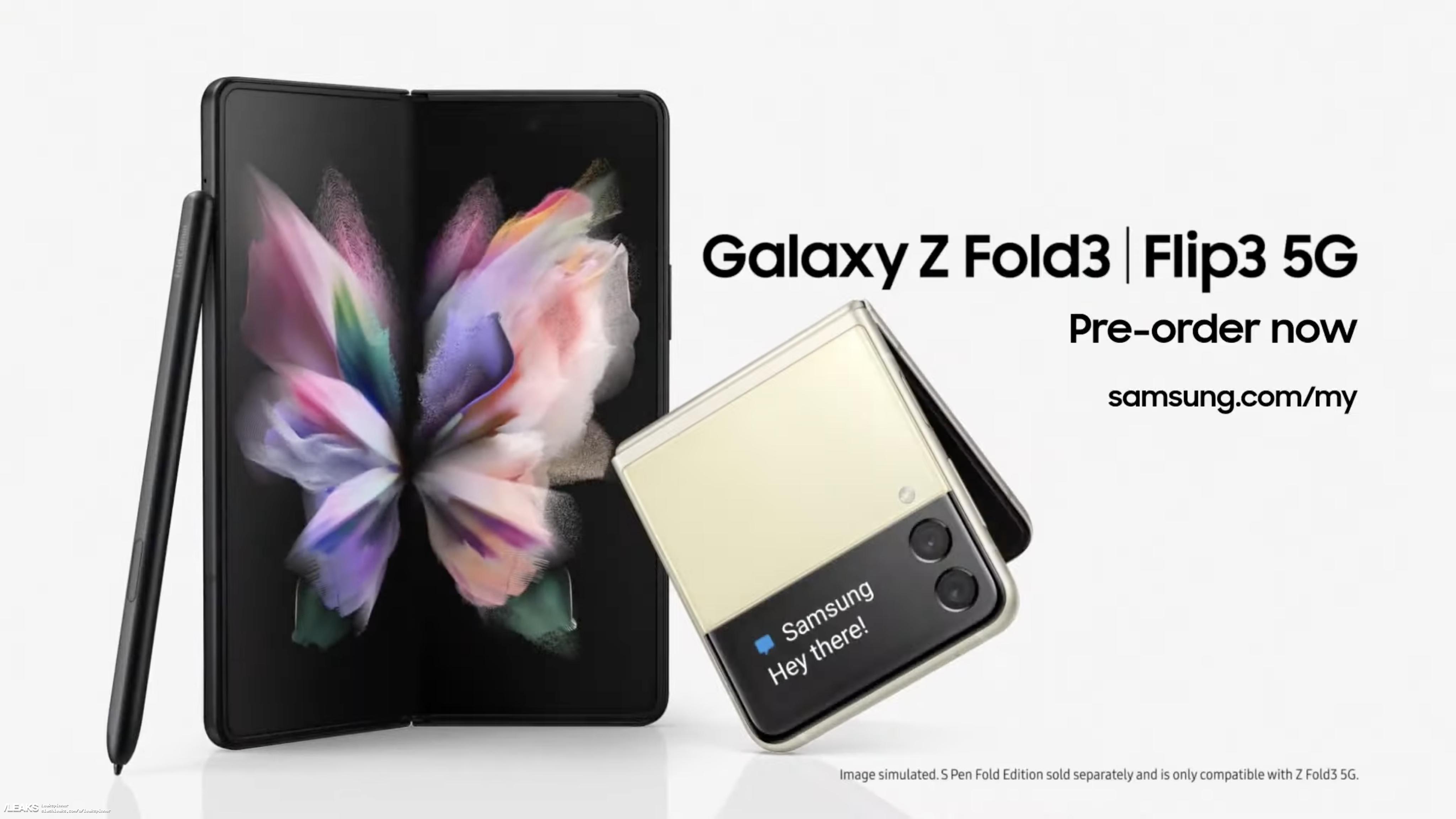 В Сеть утекло промо-видео Samsung Galaxy Z Fold 3 и Galaxy Z Flip 3