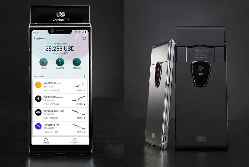 Криптовалютный смартфон Sirin Finney станет слайдером с двумя дисплеями