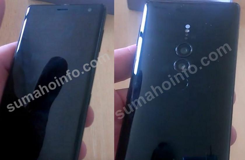 Первые фото Sony Xperia XZ3: двойная камера, знакомый дизайн
