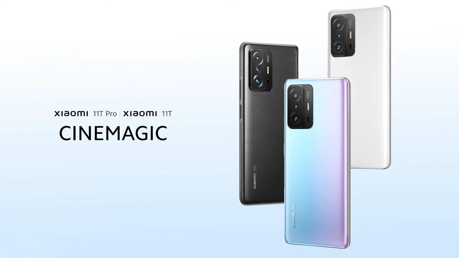Xiaomi 11T и Xiaomi 11T Pro приехали в Украину: чипы Dimensity 1200/Snapdragon 888, сверхбыстрая зарядка и акционный ценник от 11999 грн