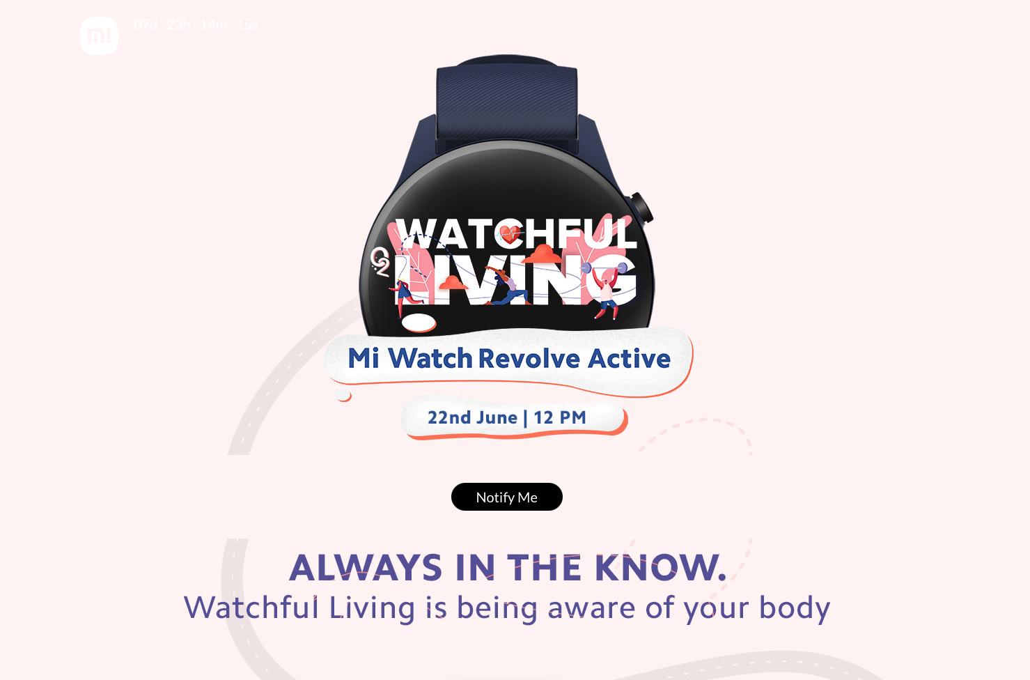 Xiaomi 22 июня анонсирует Mi Watch Revolve Active: смарт-часы с AMOLED-экраном, датчиком SpO2 и поддержкой Amazon Alexa