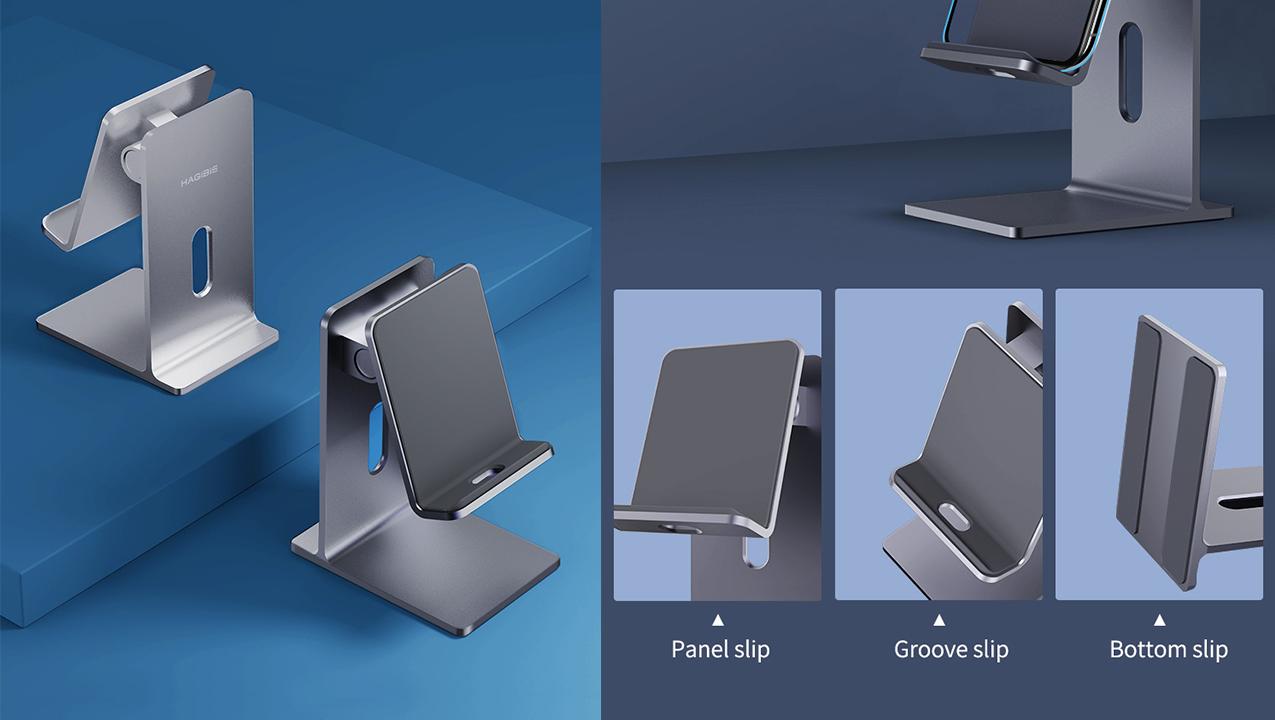 Hagibis MPS01: настольная подставка для смартфона ипланшета встилистике Apple Stand Pro