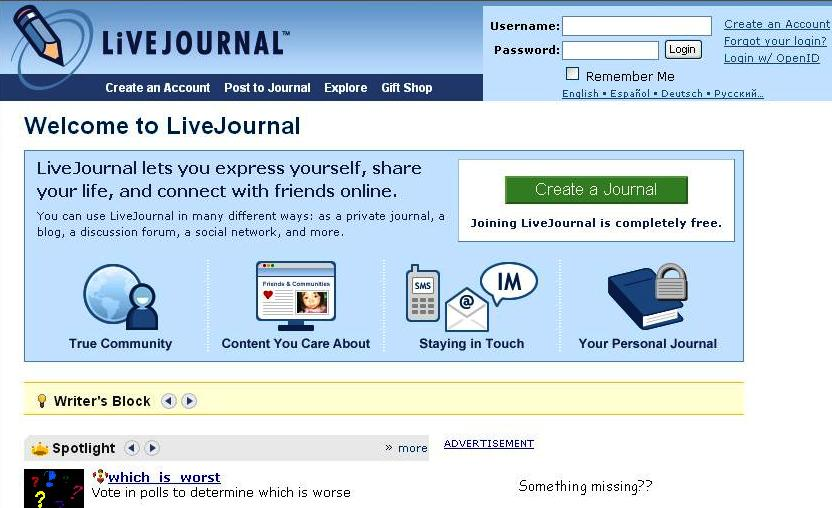 join livejournal - 832×508