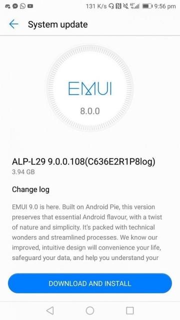 Huawei анонс оболочки EMUI 9 на основе Android Pie