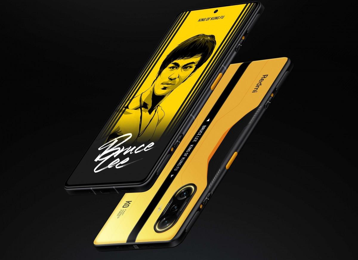 Redmi K40 Gaming Edition: первый игровой смартфон бренда с выдвижными триггерами, чипом Dimensity 1200, 67 Вт зарядкой и спецверсией в честь Брюса Ли