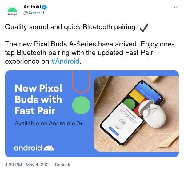 Google случайно показала бюджетные TWS-наушники Pixel Buds A в Twitter