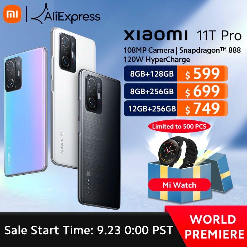 Успей получить подарки при заказе Xiaomi 11T Pro и Xiaomi Pad 5 на AliExpress по специальным ценам