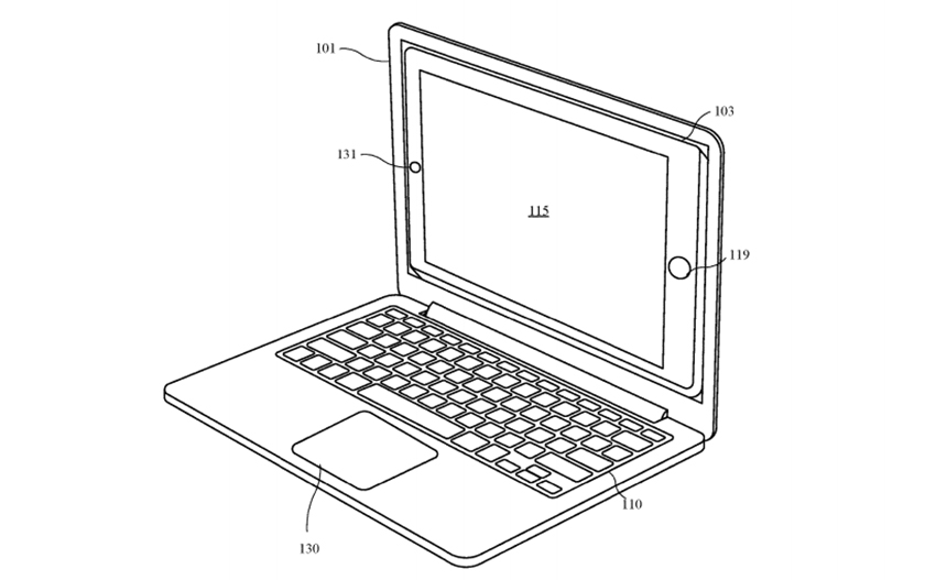 Apple has patented a docking station in laptop for iPhone and iPad