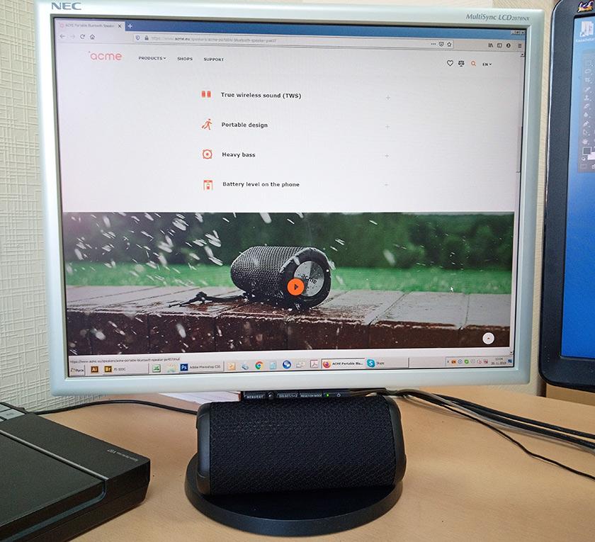 Обзор портативной акустики ACME PS407 с защитой IPX7-11