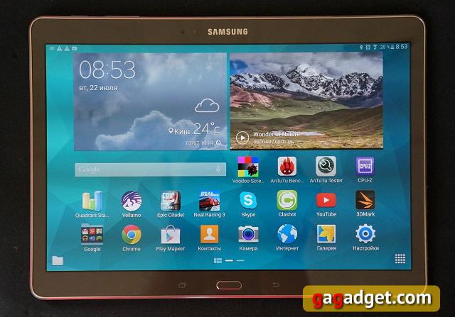 Обзор флагманского планшета Samsung Galaxy Tab S