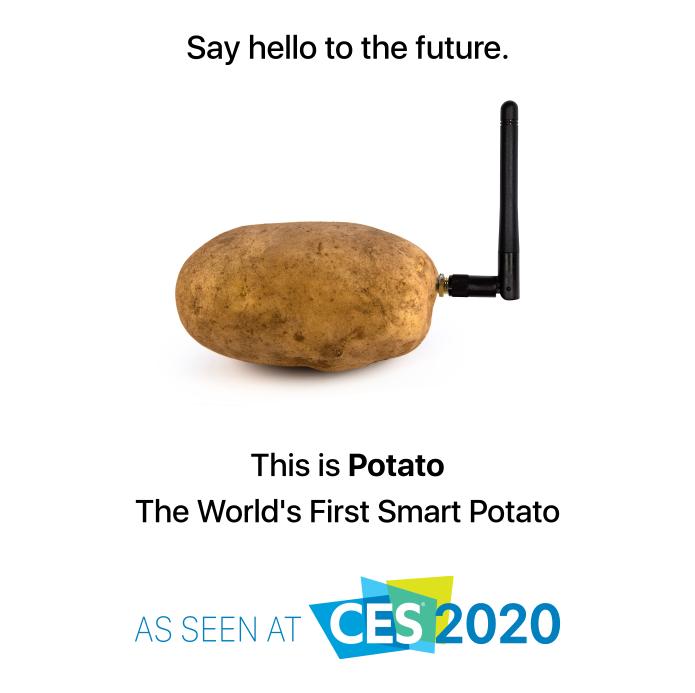И такое бывает: на выставку CES 2020 привезли устройство для общения… с картошкой