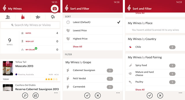 Приложения для Windows Phone: Vivino Wine Scanner-5