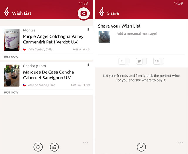 Приложения для Windows Phone: Vivino Wine Scanner-6